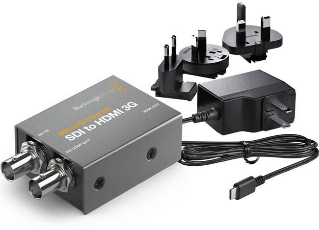 Blackmagic Sdi To Hdmi 3g Convcmic Sh03g Wpsu Micro Converter Power Supply