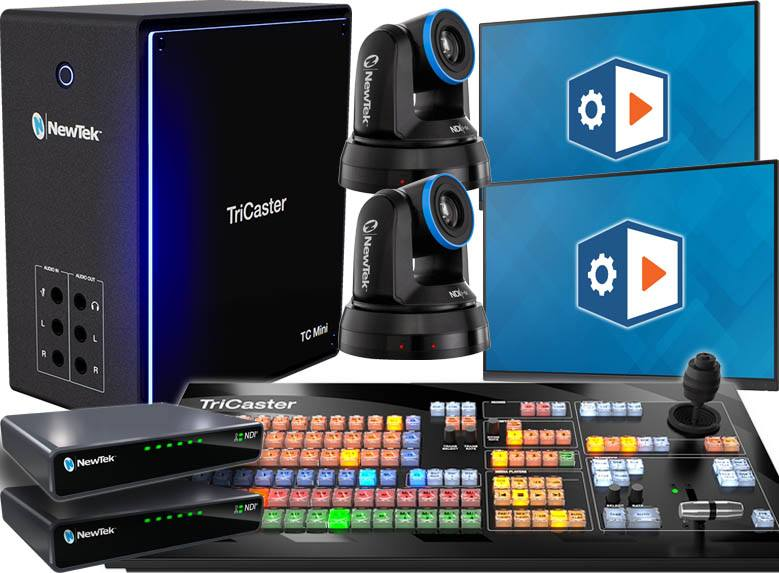 TriCaster TC Mini 4K Deluxe Bundle with 2 Free HDMI Monitors