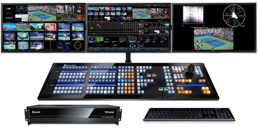 TriCaster TC1 Deluxe Bundle - TC1 2RU, NC1 I/O and 2-Stripe Control Panel