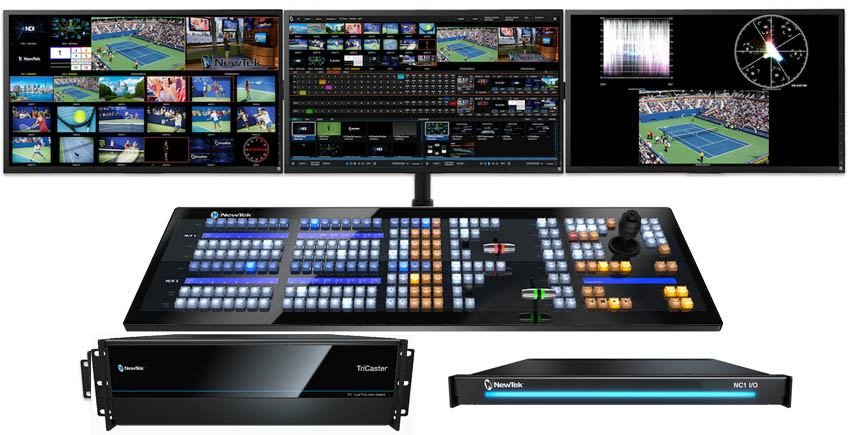 TriCaster TC1 Max Bundle - TC1 R3, NC1 I/O and 2 Stripe Control Panel