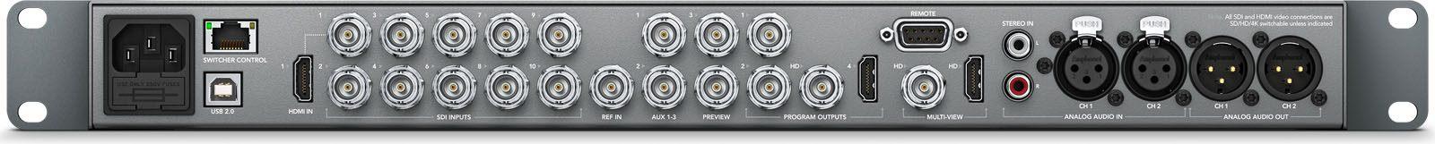 Blackmagic Atem 1 M E Production Studio 4k Swatempsw1me4k Atem Switcher