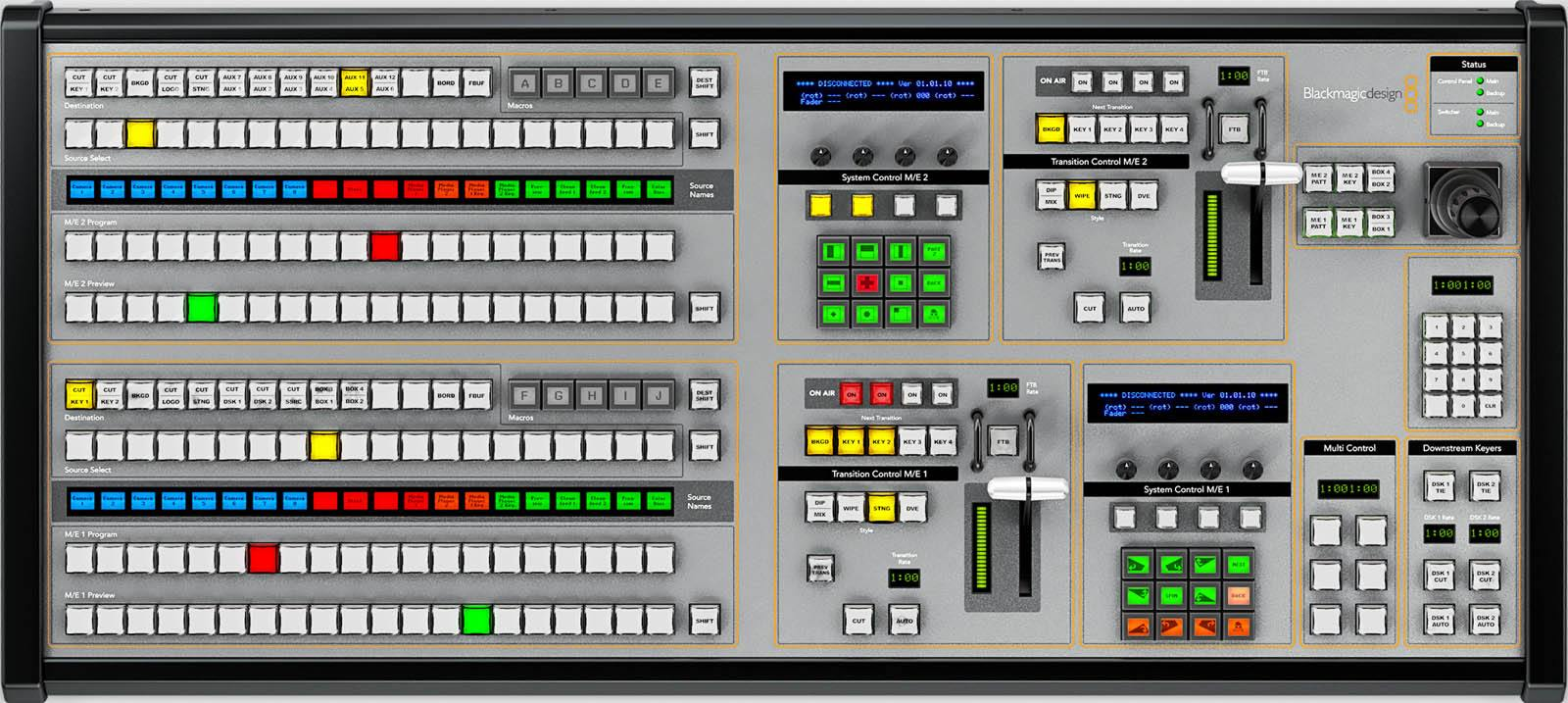 Vtr Decks Electronics Blackmagic Design Atem 2 M E Broadcast Panel