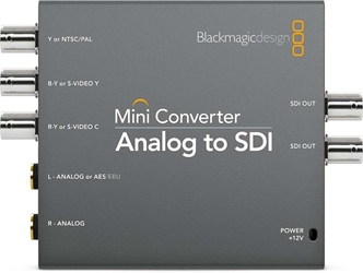 Blackmagic Analog to SDI 2 Mini Converter Blackmagic Analog to SDI 2, CONVMAAS2, Mini Converter