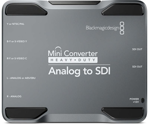 Blackmagic Analog to SDI Heavy Duty Mini Converter Blackmagic Analog to SDI, CONVMH/DUTYAAS, Heavy Duty Mini Converter