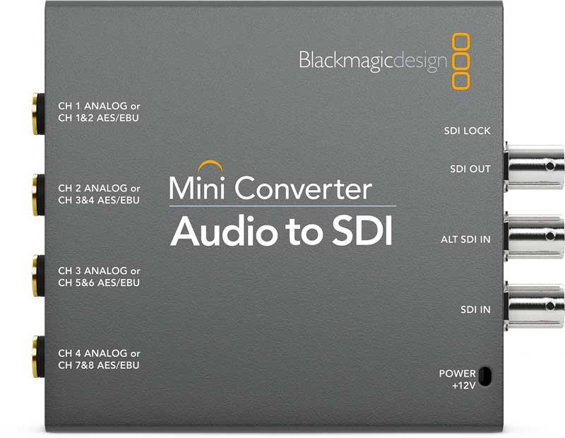 Blackmagic Audio to SDI Mini Converter Blackmagic Audio to SDI, CONVMCAUDS, Mini Converter