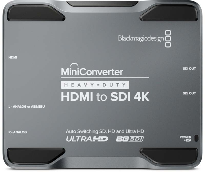 Blackmagic HDMI to SDI 4K Heavy Duty Mini Converter Blackmagic HDMI to SDI 4K, CONVMH/DUTYBHS4K, Heavy Duty Mini Converter