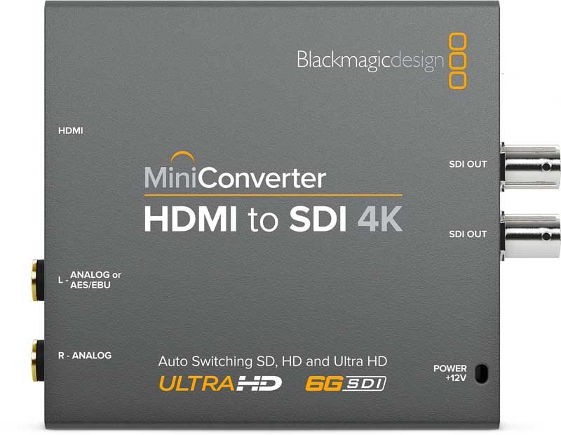 Blackmagic HDMI to SDI 4K Mini Converter Blackmagic HDMI to SDI 4K, CONVMBHS24K, Mini Converter