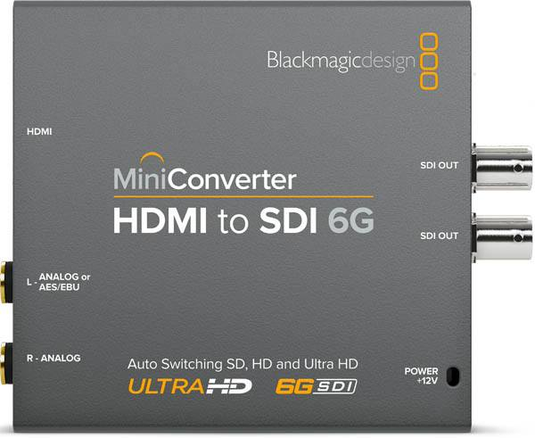 Blackmagic HDMI to SDI 6G Mini Converter - BMD-CONVMBHS4K6G