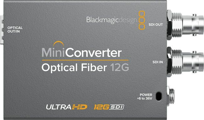 Blackmagic Optical Fiber 12G Mini Converter - BMD-CONVMOF12G