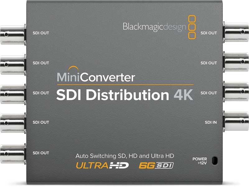 Blackmagic SDI Distribution 4K Mini Converter Blackmagic SDI Distribution 4K, CONVMSDIDA4K, Mini Converter