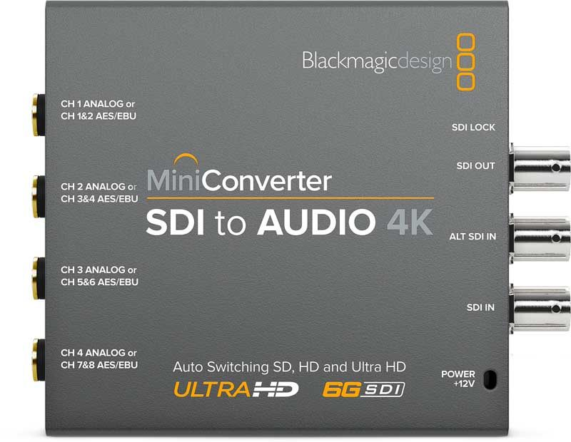 Blackmagic SDI to Audio 4K Mini Converter Blackmagic SDI to Audio 4K, CONVMCSAUD4K, Mini Converter