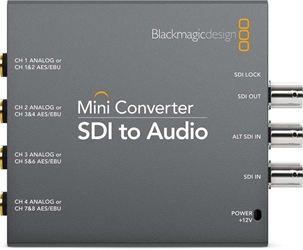 Blackmagic SDI to Audio Mini Converter Blackmagic SDI to Audio, CONVMCSAUD, Mini Converter