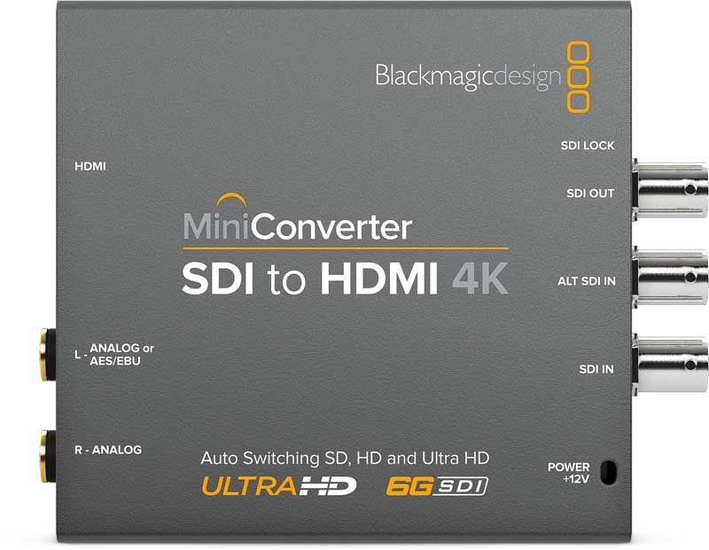 Blackmagic SDI to HDMI 4K Mini Converter Blackmagic SDI to HDMI 4K, CONVMBSH4K, Mini Converter