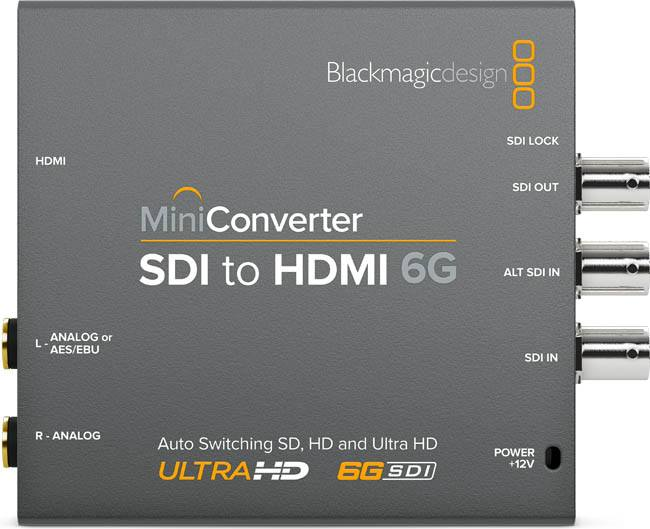 Blackmagic SDI to HDMI 6G Mini Converter - BMD-CONVMBSH4K6G