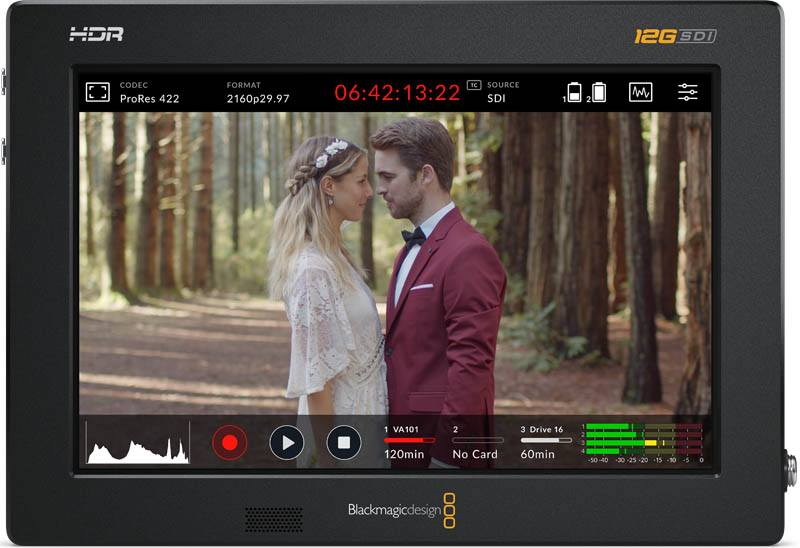 "Blackmagic Video Assist 7"" 12G HDR - HYPERD/AVIDA12/7HDR"