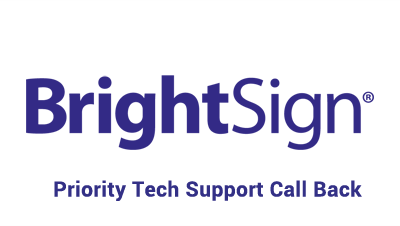 BrightSign Priority Support 4 Hour Call Back BSN-PRI-CALLBACK