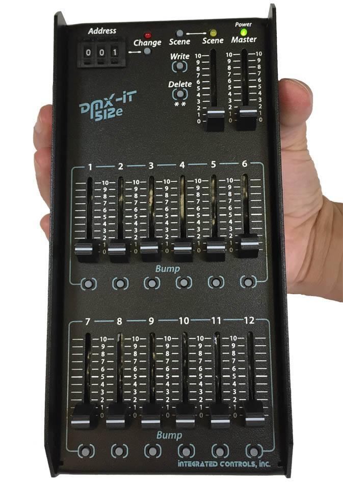 dmx it 512e handheld dmx lighting controller with guard rails. Black Bedroom Furniture Sets. Home Design Ideas