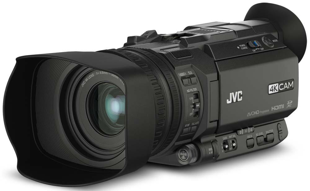 GY-HM170U 4kCam Compact Handheld Camcorder with 12x Lens