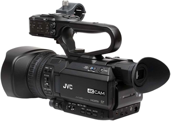 GY-HM250U 4kCam Compact Handheld Camcorder with Integrated 12x Lens - Angle