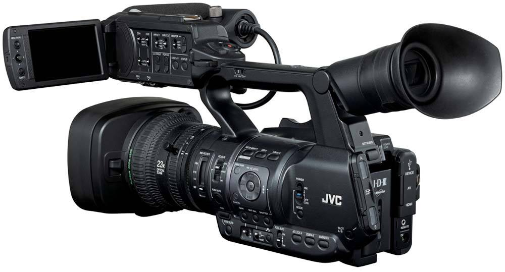 GY-HM650U ProHD Handheld Camcorder - Rear