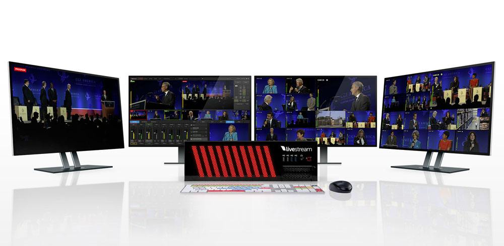 Livestream Studio HD1710 - front with Studio Keyboard